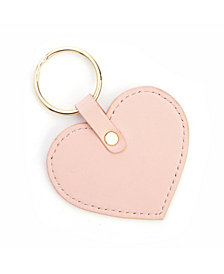 Royce New York Heart Shaped Leather Key Fob