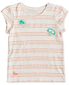 Roxy Toddler Girls Striped Cotton T-Shirt