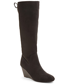 XOXO Burkey Wedge Tall Boots