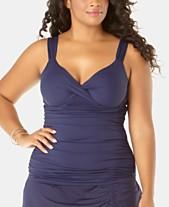 3b4180ae30c Full Figure Swimwear: Shop Full Figure Swimwear - Macy's