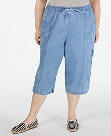 Plus Size Edna Capri Jeans, Created for Macy's