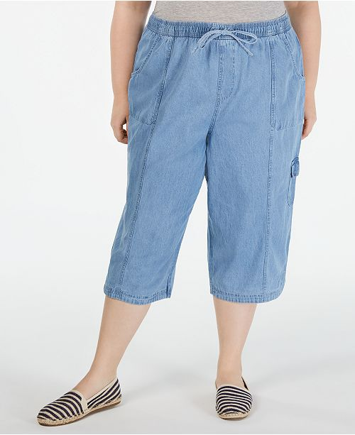 Karen Scott Plus Size Edna Capri Jeans, Created for Macy's