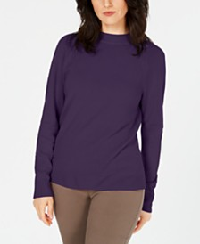 Karen Scott Zip-Back Mock-Neck Sweater, Created for Macy's
