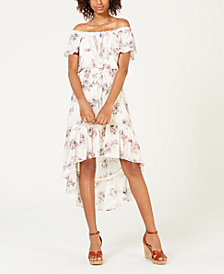 American Rag Juniors' Off-The-Shoulder High-Low Dress, Created for Macy's