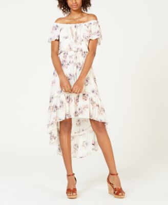 American Rag Juniors Off The Shoulder High Low Dress Created For