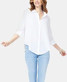 NYDJ Printed Cotton Shirt