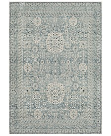 Mesopotamia MEP-2302 Medium Gray 3' x 5' Area Rug
