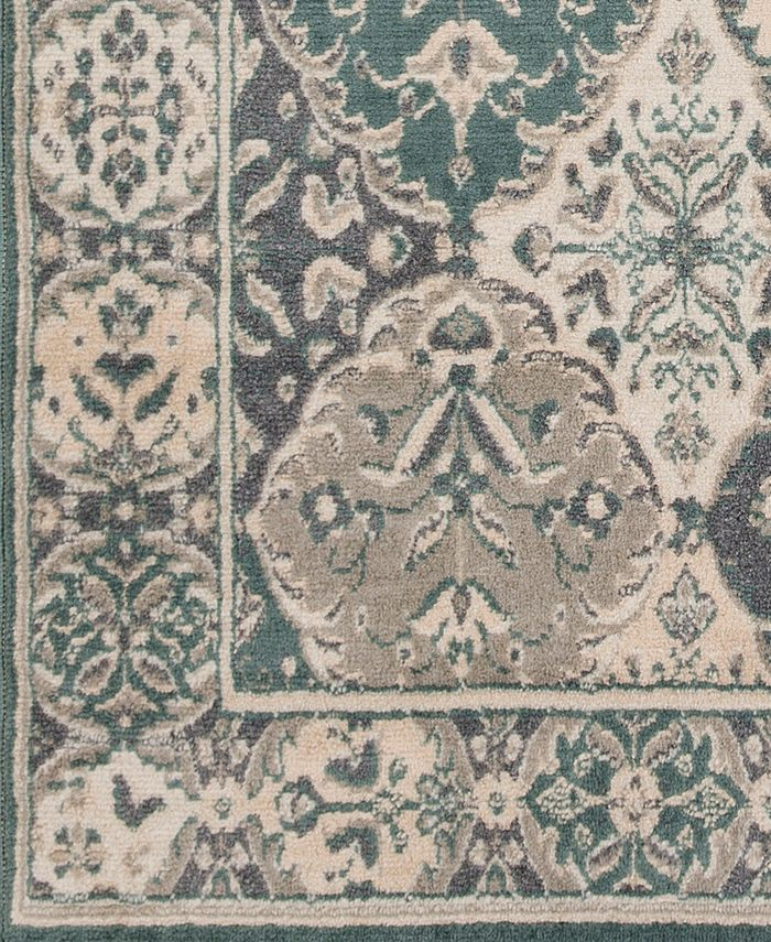 """Abbie & Allie Rugs - Oslo OSL-2304 Teal 18"""" Square Swatch"""