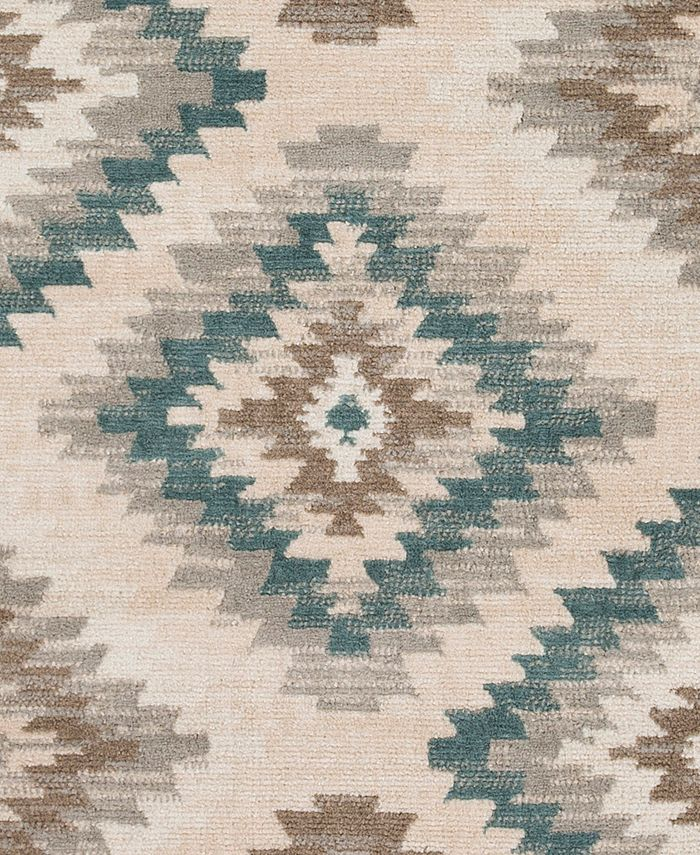 """Abbie & Allie Rugs - Oslo OSL-2305 Teal 18"""" Square Swatch"""