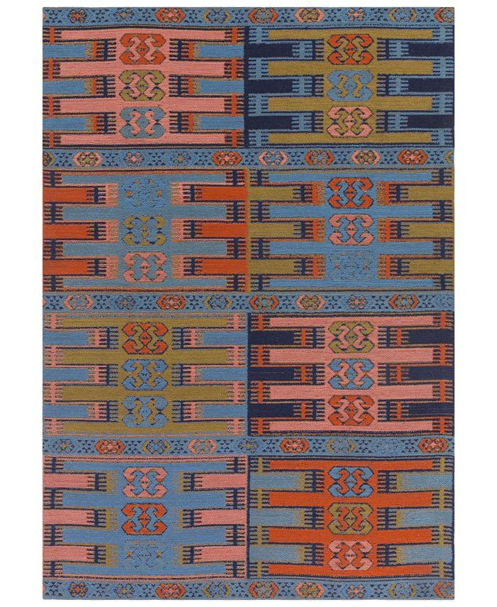 Surya - Sajal SAJ-1063 Sky Blue 4' x 6' Indoor/Outdoor Area Rug