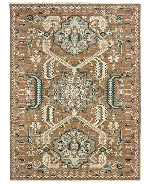 "Oriental Weavers Anatolia 2060W Rust/Teal 7'10"" x 10'10"" Area Rug"