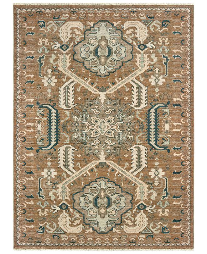 "Oriental Weavers Anatolia 2060W Rust/Teal 3'10"" x 5'5"" Area Rug"
