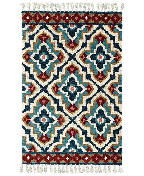 Oriental Weavers Madison 61401 Blue/Ivory 5' x 8' Area Rug