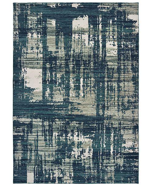 "Oriental Weavers Montage 5990B Blue/Grey 9'10"" x 12'10"" Area Rug"