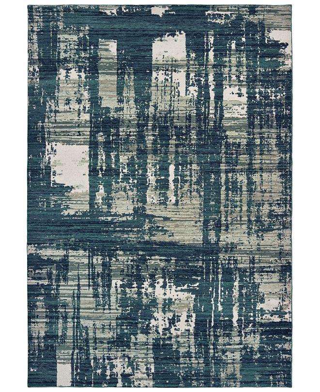 "Oriental Weavers Montage 5990B Blue/Grey 3'10"" x 5'5"" Area Rug"