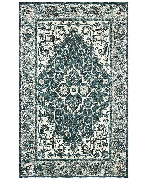 Oriental Weavers Zahra 75506 Grey/Blue 10' x 13' Area Rug