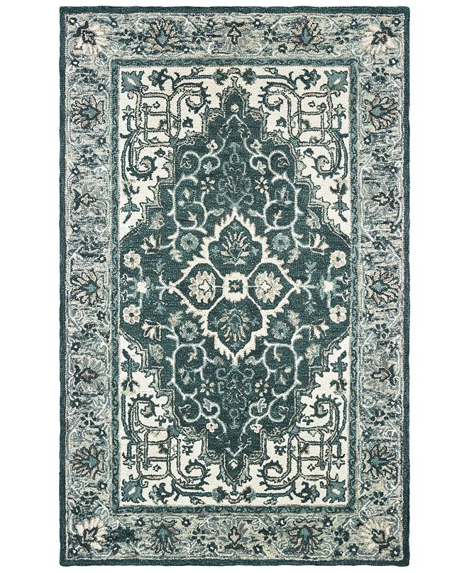 Oriental Weavers Zahra 75506 Grey/Blue 10' x 13' Area Rug