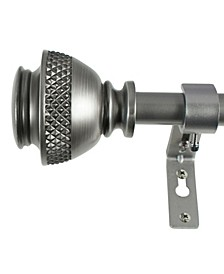 3/4-Inch Textured Urn Telescoping Curtain Rod Set, 72 to 144-Inch, Venetian Silver