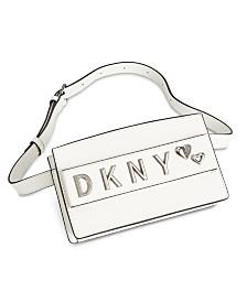 DKNY Smoke Leather Belt Bag, Created for Macy's