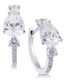 Crystal & Stone Huggie Hoop Earrings, Created for Macy's