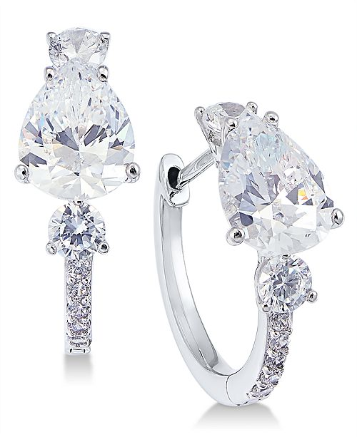 Eliot Danori Crystal & Stone Huggie Hoop Earrings, Created for Macy's