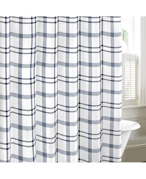 Eddie Bauer Cordova Chambray Blue Shower Curtain