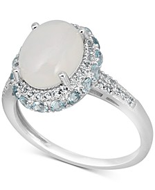 Opal (3 ct. t.w.) & Topaz (1-3/4 ct. t.w.) Ring in Sterling Silver