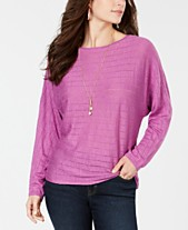 5858649363898 Style   Co Boat-Neck Dolman-Sleeve Sweater
