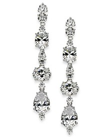 Silver-Tone Crystal Linear Earrings, Created for Macy's