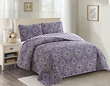 Isabelle 3 Piece Quilt Set Full/Queen