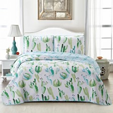 Cactus 3 Piece Quilt Set King