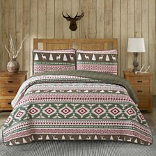 Deer 3 Piece Quilt Set Full/Queen
