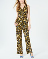 a7e6aa62f881 more like this · NY Collection Petite Printed Belted Jumpsuit