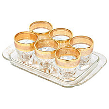 Lorren Home Trends Tray Set 7 Piece Shots with Tray