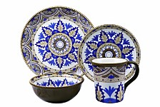 Bimini Collection 16 Piece Beaded Stoneware Set