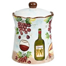 Lorren Home Trends Purple Grape Ceramic Cookie Jar