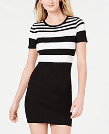 Crave Fame Juniors' Striped Sweater Dress