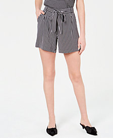 Maison Jules Tie-Waist Pull-On Shorts, Created for Macy's