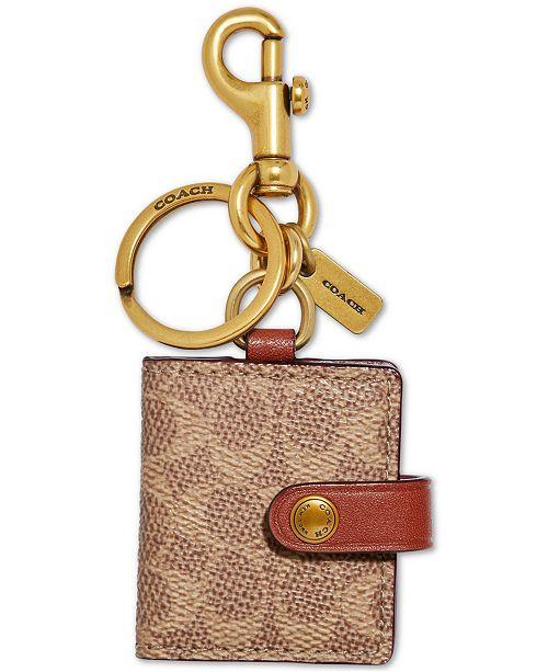 COACH Signature Picture Frame Bag Charm