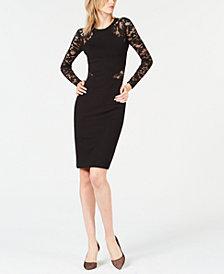 French Connection Lace-Trim Bandage Dress