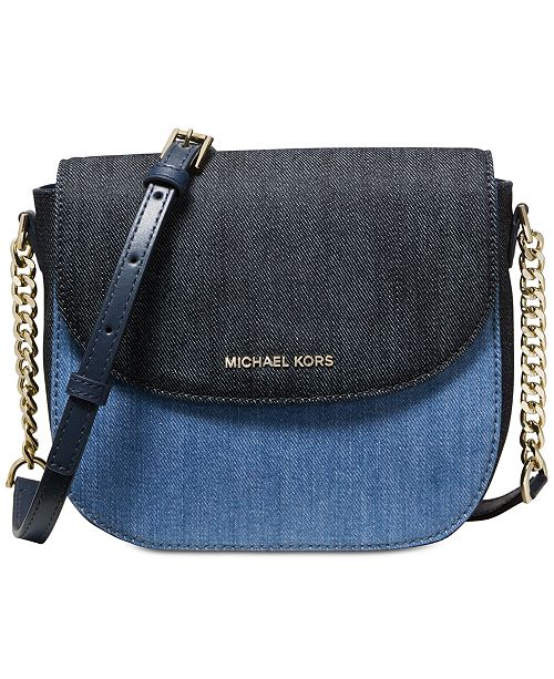 ccc213373beb Michael Kors Denim Half Dome Crossbody