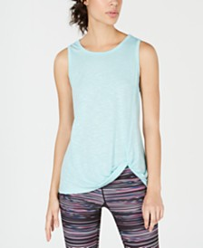 Ideology Knot-Front Tank Top, Created for Macy's