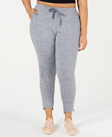 Calvin Klein Performance Plus Size High-Waist Step-Hem Joggers