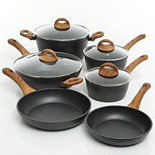 Cuisine 10-piece Newbury Forged Aluminum Cookware Set