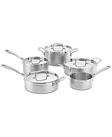 Hammered Tri-Ply Stainless 9-Pc. Cookware Set