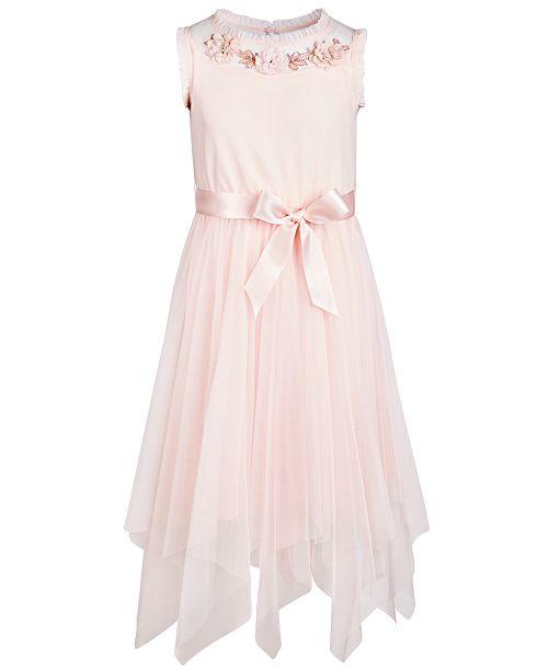 Pink & Violet Big Girls Embellished Fairy Hem Dress