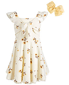 Beautees Big Girls Sunflower-Print Skater Dress