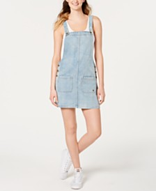 Roxy Juniors' Love To Travel Cotton Denim Dress