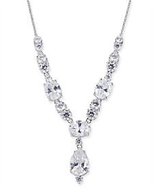 """Eliot Danori Silver-Tone Crystal Statement Necklace, 16"""" + 1"""" extender, Created for Macy's"""
