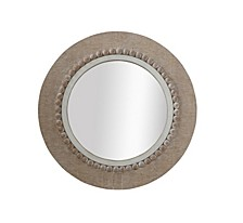 Round Decorative Wood Wall Mirror